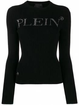 Philipp Plein - свитер с логотипом и стразами CWKO6056PTE663N95998