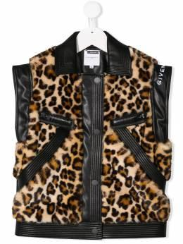 Givenchy Kids - жилет с леопардовым принтом 656Z5695995655000000