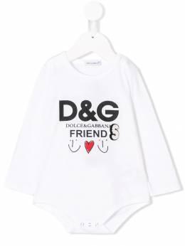 Dolce&Gabbana Kids - боди с принтом логотипа OL9G3QDX933696360000