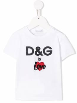 Dolce & Gabbana Kids футболка с принтом логотипа L2JTBEG7RHZ