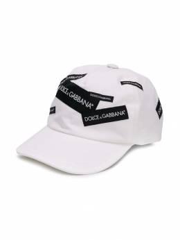 Dolce&Gabbana Kids - кепка с нашивками H59G3RSC939588800000