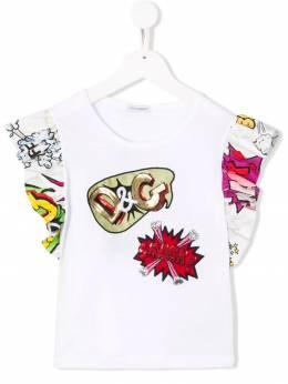 Dolce & Gabbana Kids футболка в технике пэчворк с логотипом L5JTCZG7RTZ