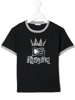Dolce & Gabbana Kids футболка DG Kingdom L4JT8AG7SVQ