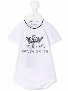 Dolce&Gabbana Kids - боди с логотипом O9IG3STG959583880000