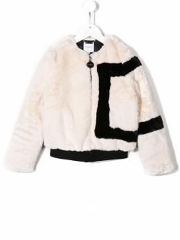 Givenchy Kids - укороченная шуба из искусственного меха 65399395003059000000