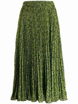 Michael Michael Kors - плиссированная юбка с логотипом 3EZ6CB69599366300000