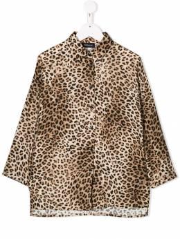 Monnalisa рубашка с длинными рукавами и леопардовым принтом 4143014648