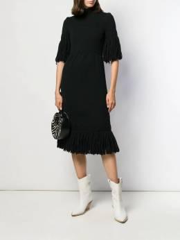 A.N.G.E.L.O. Vintage Cult - трикотажное платье с бахромой 1960-х годов 556A9503895600000000