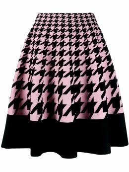 Alexander McQueen - трикотажная юбка в ломаную клетку 038Q9AF5950385800000