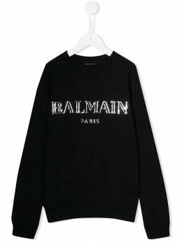 Balmain Kids толстовка с логотипом 6L4590LX230