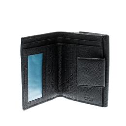 Bvlgari Black Leather Bifold Wallet