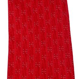 Hermes Red Silk Geometric H Dot Print Tie 209614