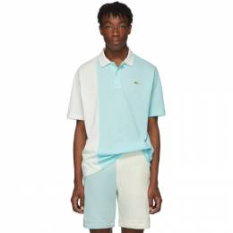 Lacoste Blue and White Golf le Fleur* Edition Colorblocked Polo 192268M21200407GB