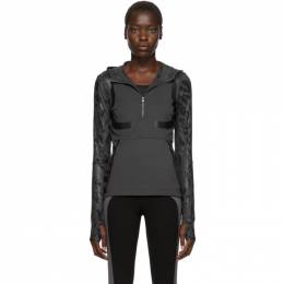 Adidas by Stella McCartney Grey Run Hoodie 192755F11000101GB
