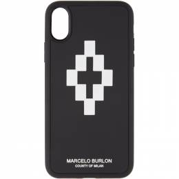 Marcelo Burlon County Of Milan Black and White 3D iPhone X Case 192539M15300201GB