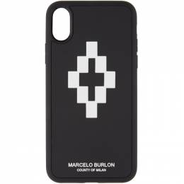 Marcelo Burlon County Of Milan Black and White 3D iPhone X Case CMPA007F190080501001