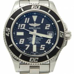Breitling Black Dial Stainless Steel Superocean Automatic Men's Watch 42MM