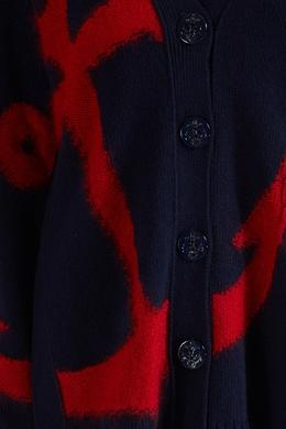 Синий кардиган с красным якорем No. 21 35142711