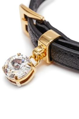 Черный браслет из натуральной кожи Miu Miu 375142961
