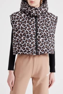 Укороченный леопардовый жилет MSGM 296142780