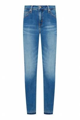 Голубые джинсы-скинни с заломами Calvin Klein 596143113