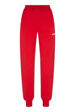 Красные брюки с логотипом MSGM 296142875