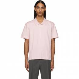 Thom Browne Pink Relaxed Fit Side Slit Polo 192381M21200603GB