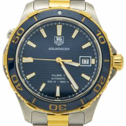 Tag Heuer Blue Dial & Bezel Steel & 18K Gold Plated Aquaracer Men's Watch 41MM 211859