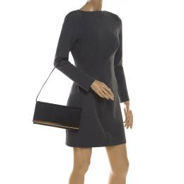 Michael Kors Black Leather Lana Clutch Michael MICHAEL Michael Kors