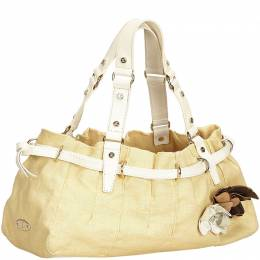 Celine Beige Canvas Vintage Tote Bag