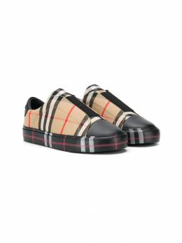 Burberry Kids кеды в клетку Archive Check 8016941