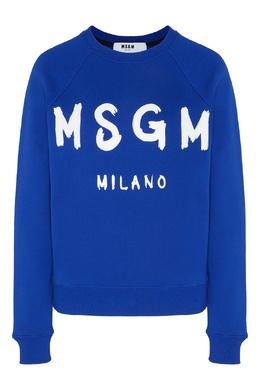 Синий свитшот с логотипом MSGM 296142830
