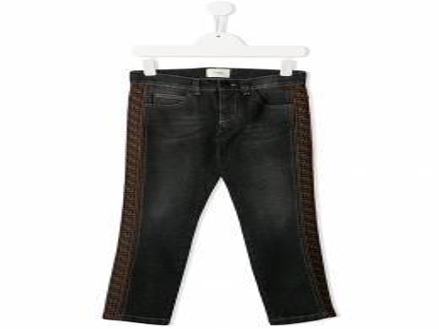 Fendi Kids - джинсы с логотипом и полосками 093A8LA9508055900000