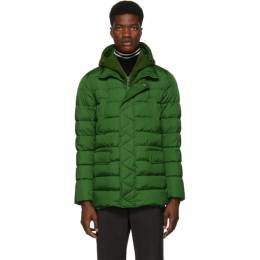 Herno Green Down Chamonix and Scuba Coat 192829M18000405GB