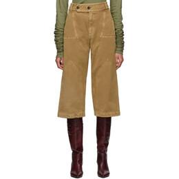 Lanvin Tan Panelled Jeans 192254F08700304GB