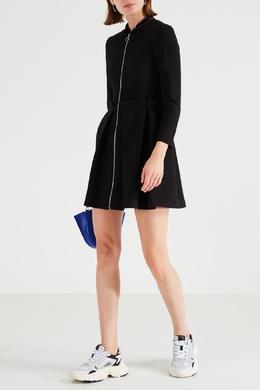 Короткое черное платье на молнии Maje 888143361