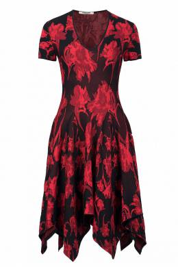 Трикотажное платье с асимметричным подолом Roberto Cavalli 314143247