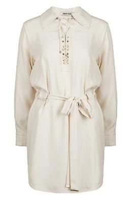 Платье с поясом и шнуровкой Roberto Cavalli 314143254