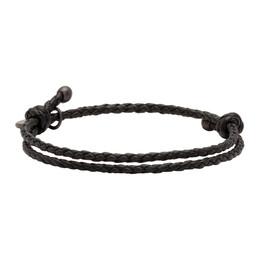 Bottega Veneta Black Intrecciato Bracelet 192798M14200101GB