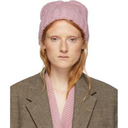 Ami Alexandre Mattiussi Pink Wool Knit Beanie 192482F01400201GB