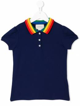 Gucci Kids - embroidered butterfly polo shirt 533X9O66903333960000