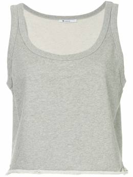 T By Alexander Wang cropped fitted tank top 4C281067B2