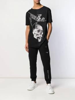 Philipp Plein - спортивные брюки с логотипом CMRT6558PJO660N93595