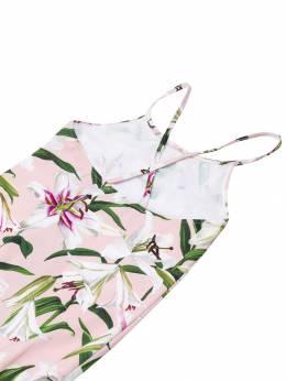 Dolce&Gabbana Kids - слитный купальник с цветочным узором 863FSGQRHFKK89536559