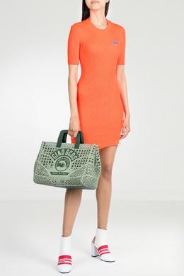 Неоновое оранжевое платье Gcds 2981143721