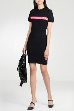 Черное платье с контрастной отделкой Gcds 2981143798