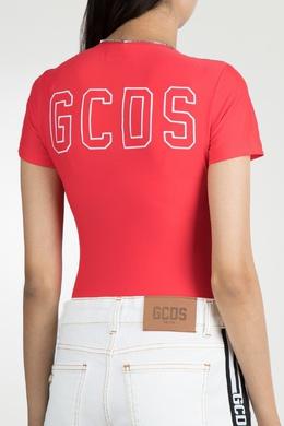 Красное боди с молнией и логотипами Gcds 2981143803