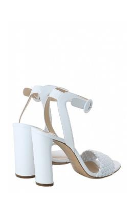 Белые босоножки с плетеным ремешком Casadei 1654143690