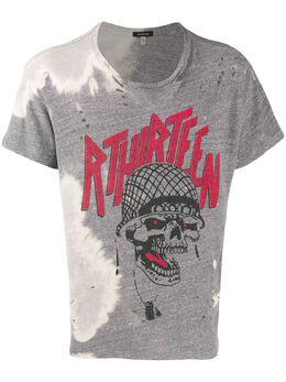 R13 футболка с графичным принтом и выбеленным эффектом R13W394739