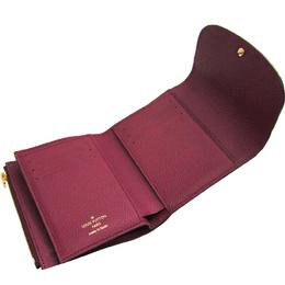 Louis Vuitton Monogram Empreinte Leather Portefeuille Ariane Raisin Tri-Fold Wallet 212082